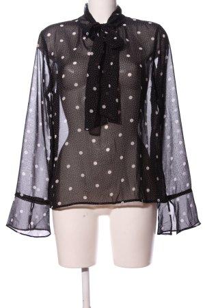 Pieces ärmellose Bluse schwarz-weiß Allover-Druck Business-Look