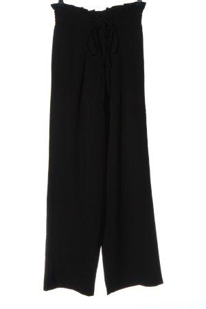 Pieces Luźne spodnie czarny W stylu biznesowym