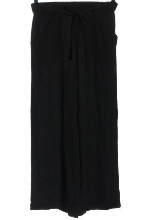 Pieces Pantalone largo nero stile casual