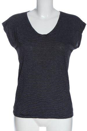 Pieces Shirt basique noir-blanc motif rayé style décontracté