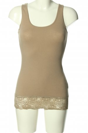Pieces Basic Top creme Casual-Look