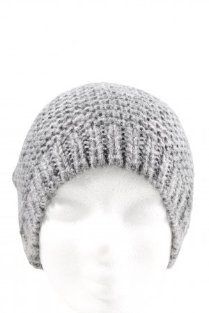 Pieces Beanie light grey cable stitch casual look