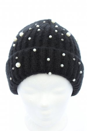 Pieces Beanie black cable stitch casual look