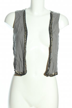 Pieces Biker Vest light grey casual look