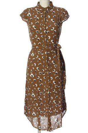 Pieces Sukienka z krótkim rękawem Na całej powierzchni W stylu casual