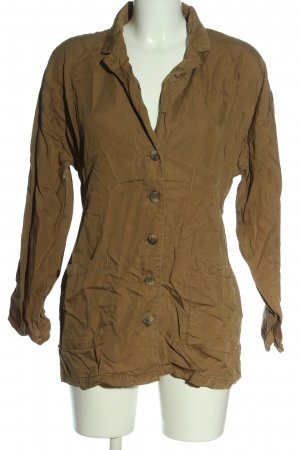 Pieces Giacca a blusa marrone stile casual