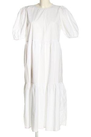 Pieces Vestido camisero blanco look casual