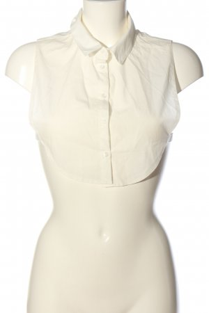 Pieces Blouse kraagje wit casual uitstraling