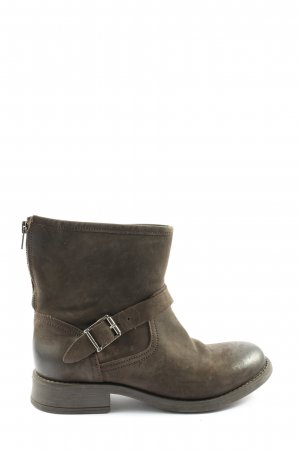 Pieces Booties braun meliert Casual-Look