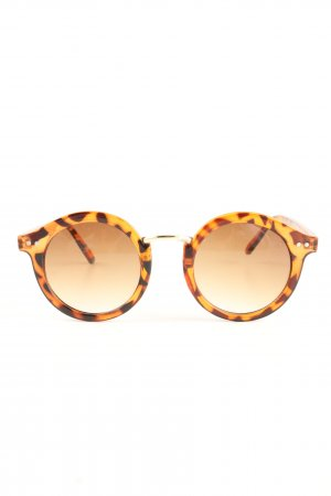 Pieces Gafas mariposa naranja claro-marrón estampado de animales look casual