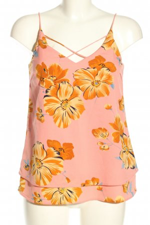 Pieces Camisole roze-licht Oranje volledige print casual uitstraling