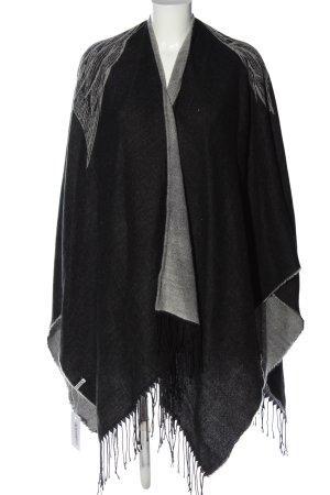 Pieces Capa negro-gris claro estampado con diseño abstracto look casual
