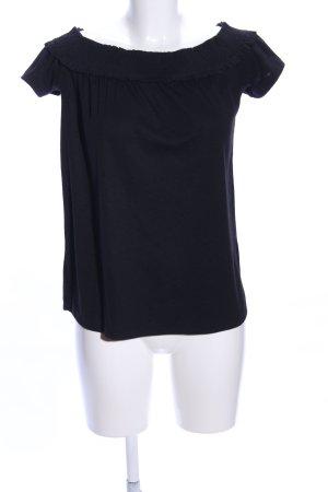 Pieces Camisa tipo Carmen negro look casual
