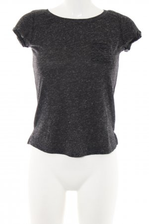 Pieces Cropped Shirt schwarz meliert Casual-Look