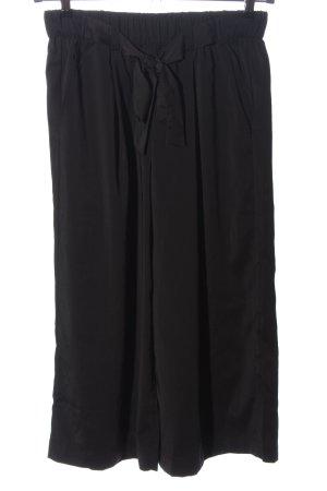 Pieces Falda pantalón de pernera ancha negro look casual