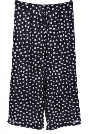 Pieces Culottes schwarz-weiß Allover-Druck Casual-Look