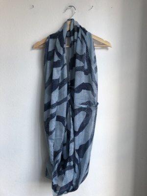 Pieces Écharpe tube bleu azur-bleu foncé