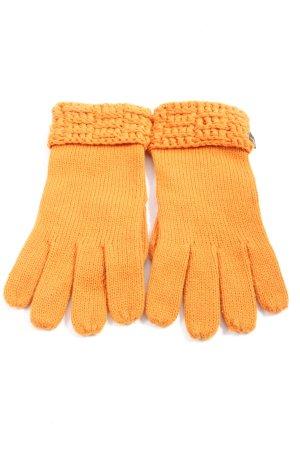 Pieces Rękawiczki jasny pomarańczowy W stylu casual