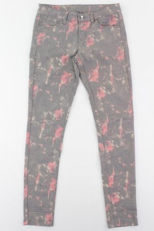Pieces Five-Pocket Trousers multicolored cotton
