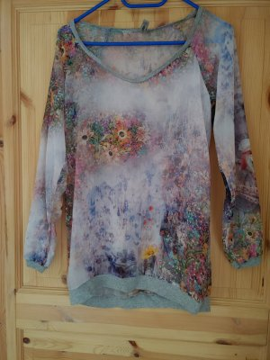 Pieces Long Shirt silver-colored
