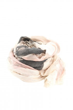 Pieces Fringed Scarf natural white-light grey flower pattern business style