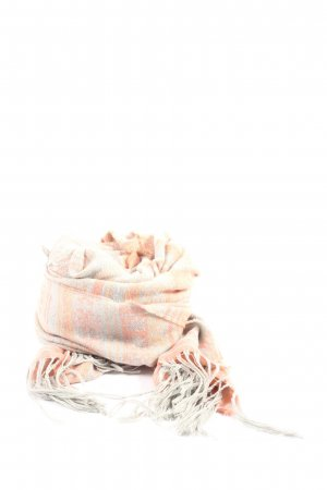 Pieces Fringed Scarf graphic pattern casual look