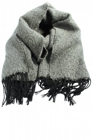 Pieces Fringed Scarf light grey-black casual look