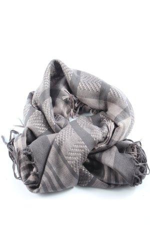 Pieces Sjaal met franjes lichtgrijs geruite print casual uitstraling