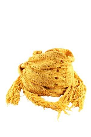 Pieces Bufanda de flecos amarillo pálido elegante