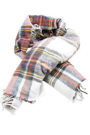 Pieces Sjaal met franjes geruite print casual uitstraling