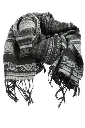 Pieces Écharpe à franges blanc-noir style décontracté