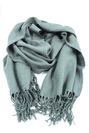 Pieces Sjaal met franjes turkoois casual uitstraling
