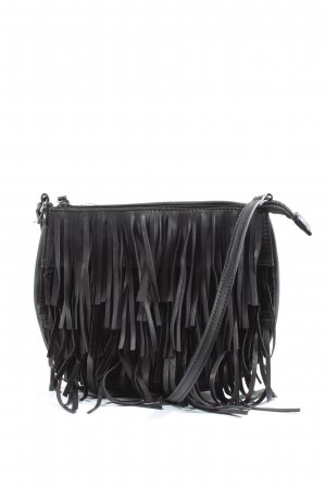 Pieces Fringed Bag black casual look