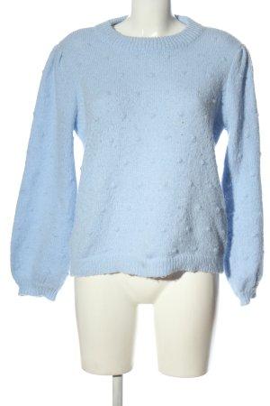 Pieces Pullover a maglia grossa blu stile casual