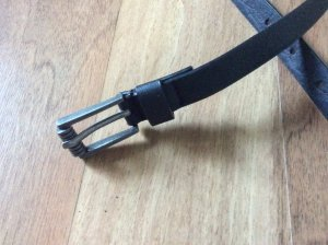 Pieces Leather Belt black leather