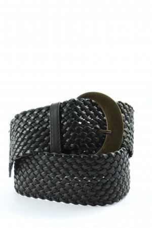 Pieces Belt Buckle black cable stitch casual look