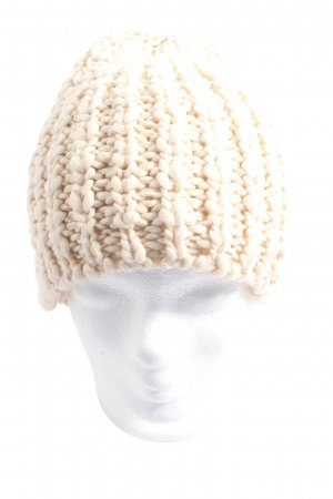 Pieces Crochet Cap cream casual look