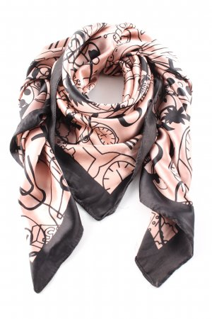 Pieces Neckerchief nude-black mixed pattern elegant