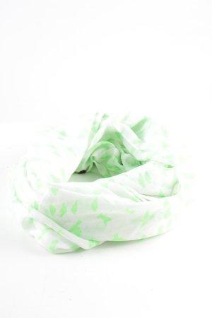 Pieces Foulard vert-blanc style décontracté