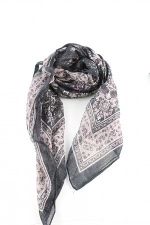 Pieces Neckerchief black-pink flower pattern casual look