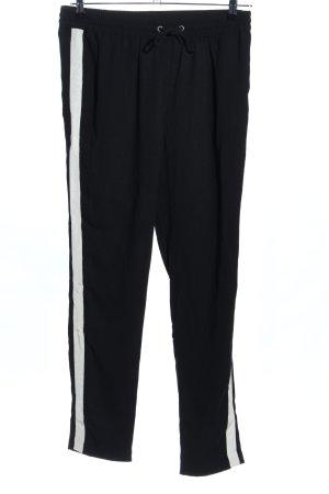 Pieces Pantalón estilo Harem negro-blanco estampado a rayas look casual