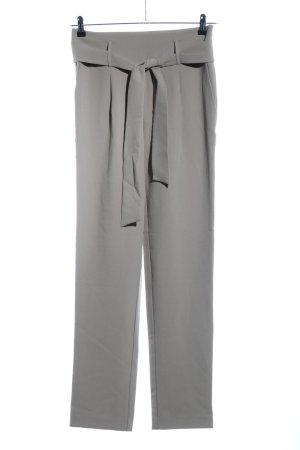 Pieces Hoge taille broek lichtgrijs zakelijke stijl