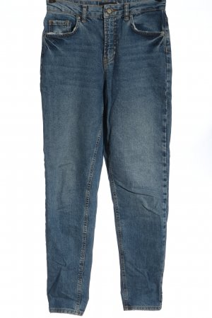 Pieces Jeansy z wysokim stanem niebieski W stylu casual