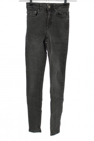 Pieces Hoge taille jeans zwart casual uitstraling