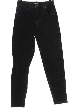 Pieces High Waist Jeans schwarz Casual-Look