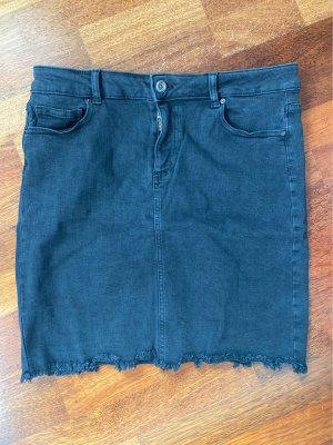 Pieces Jupe en jeans noir