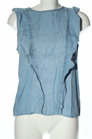 Pieces Jeansbluse blau Casual-Look