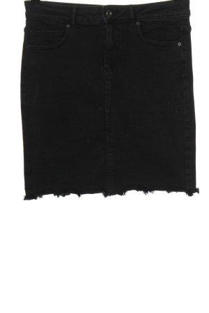 Pieces Gonna di jeans nero stile casual