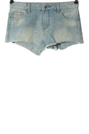 Pieces Short en jean bleu style décontracté