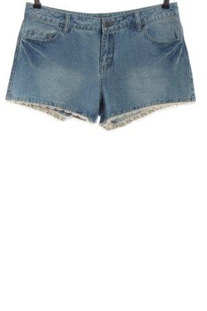 Pieces Pantaloncino di jeans blu stile casual